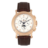 Heritor Automatic Kingsley Leather-Band Watch w/Day/Date - Gold/White
