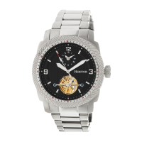 Heritor Automatic Helmsley Semi-Skeleton Bracelet Watch - Silver/White
