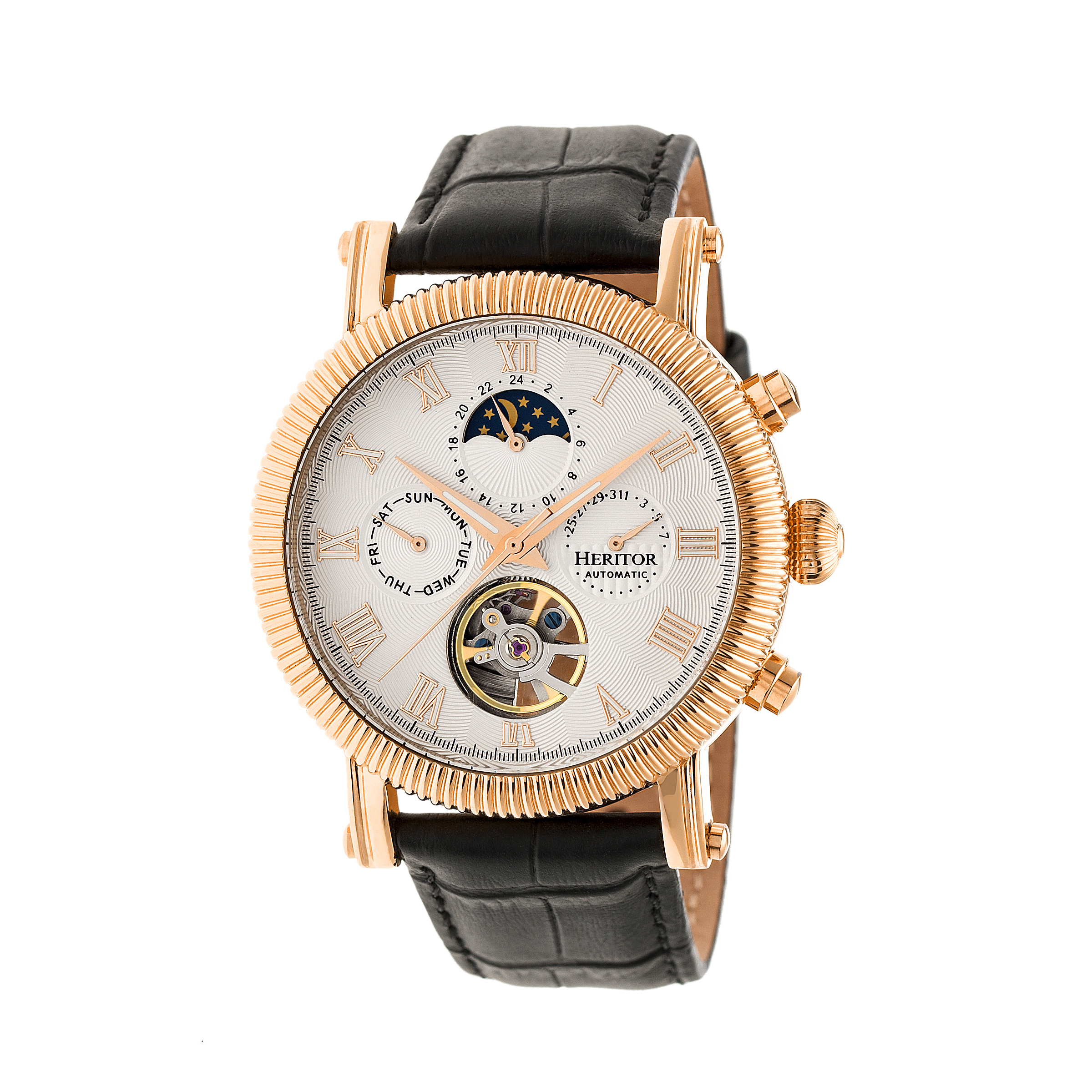 Product details for Heritor Automatic Winston Semi-Skeleton