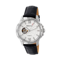 Heritor Automatic Bonavento Semi-Skeleton Leather-Band Watch - Gold/Black