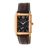 Heritor Automatic Frederick Leather-Band Watch - Gold/Black