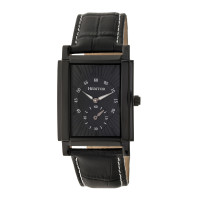 Heritor Automatic Frederick Leather-Band Watch - Silver/Black