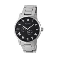 Heritor Automatic Romulus Leather-Band Watch - Silver/Black