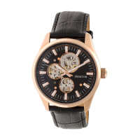 Heritor Automatic Stanley Semi-Skeleton Bracelet Watch - Silver