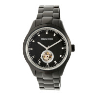 Heritor Automatic Crew Semi-Skeleton Bracelet Watch - Silver