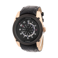 Heritor Automatic Daniels Semi-Skeleton Bracelet Watch - Black