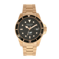 Heritor Automatic Lucius Leather-Band Watch w/Date - Rose Gold/Black
