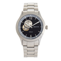 Heritor Automatic Antoine Semi-Skeleton Bracelet Watch - Silver/Blue