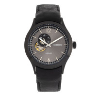 Heritor Automatic Antoine Semi-Skeleton Bracelet Watch - Silver/Black