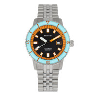 Heritor Automatic Edgard Bracelet Diver's Watch w/Date - Light Blue/Navy