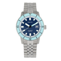 Heritor Automatic Edgard Bracelet Diver's Watch w/Date - Navy