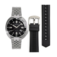 Heritor Automatic Matador Box Set with Interchangable Bands and Date Display - Black/Orange