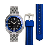 Heritor Automatic Matador Box Set with Interchangable Bands and Date Display - Red/Blue