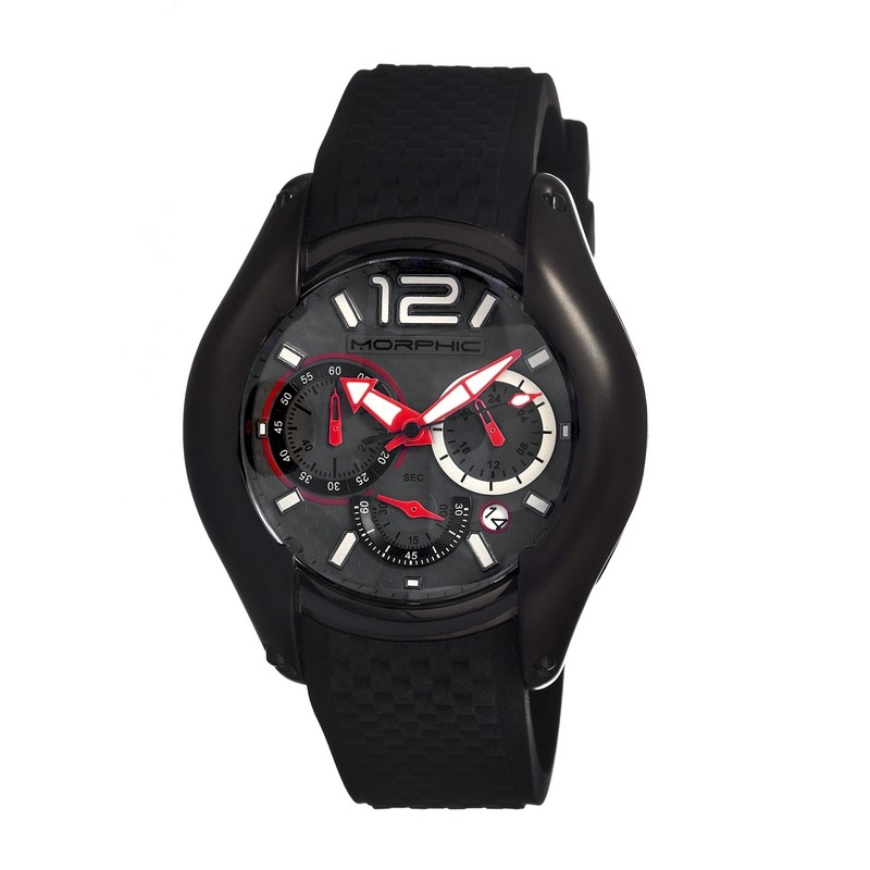 Morphic M3.5 Series Men's Chronograph Watch w/Date - Black/Grey MPH0308