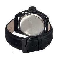 Morphic M16 Series Leather-Band Swiss Men's Watch - Black MPH1606