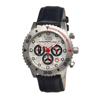 Morphic M33 Series Chronograph Men's Watch w/ Date  -  Black/Silver MPH3303
