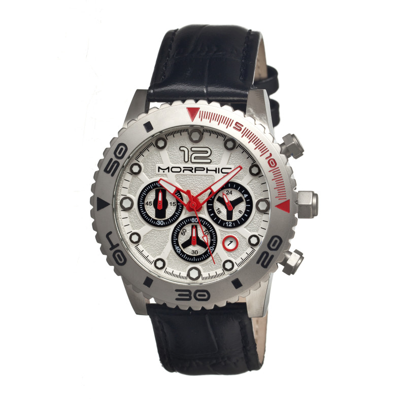 Morphic M33 Series Chronograph Men's Watch w/ Date - Silver MPH3301