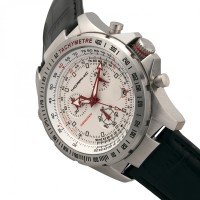 Morphic M36 Series Leather-Band Chronograph Watch - Silver/White MPH3601