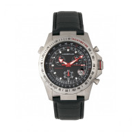 Morphic M36 Series Leather-Band Chronograph Watch - Black MPH3605