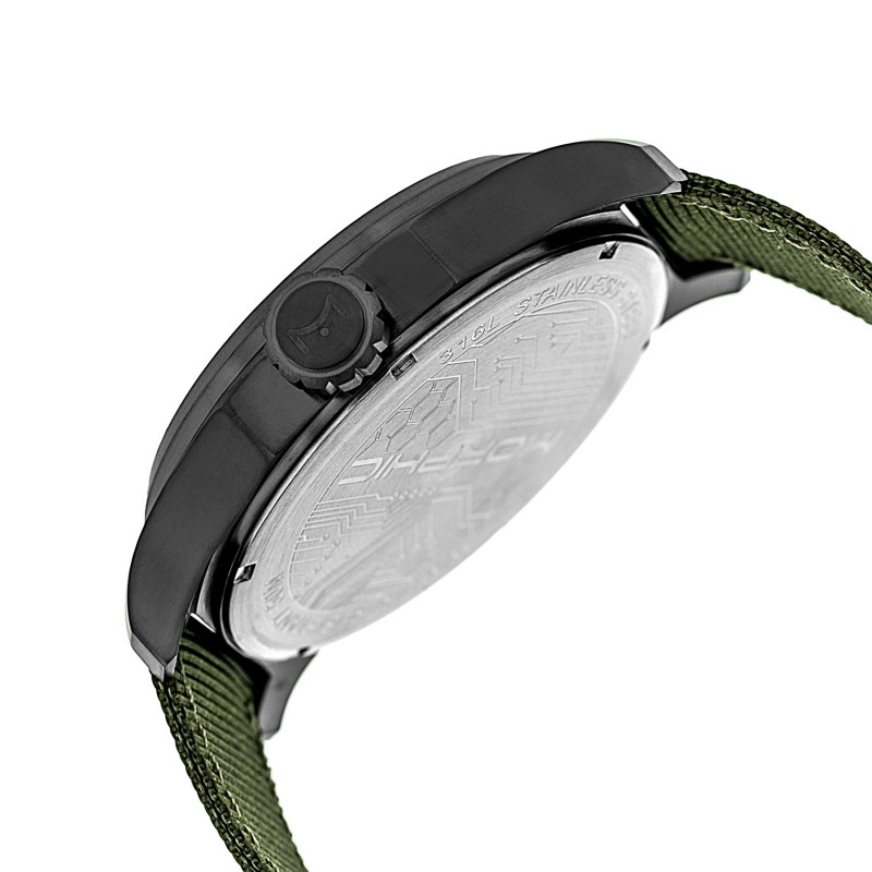 Morphic M48 Series Nylon-Band Watch w/ Day/Date - Gunmetal/Olive MPH4806
