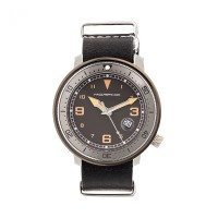 Morphic M58 Series Nato Leather-Band Watch w/ Date - Gunmetal/Black MPH5803