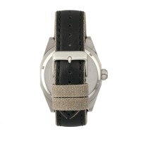 Morphic M59 Series Leather-Overlaid Canvas-Band Watch - Silver/Black MPH5902