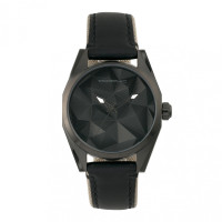 Morphic M59 Series Leather-Overlaid Canvas-Band Watch - Black MPH5905
