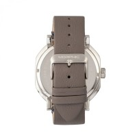 Morphic M62 Series Leather-Band Watch w/Day/Date - Silver/Grey MPH6203