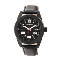 Morphic M63 Series Leather-Band Watch w/Date - Black MPH6309