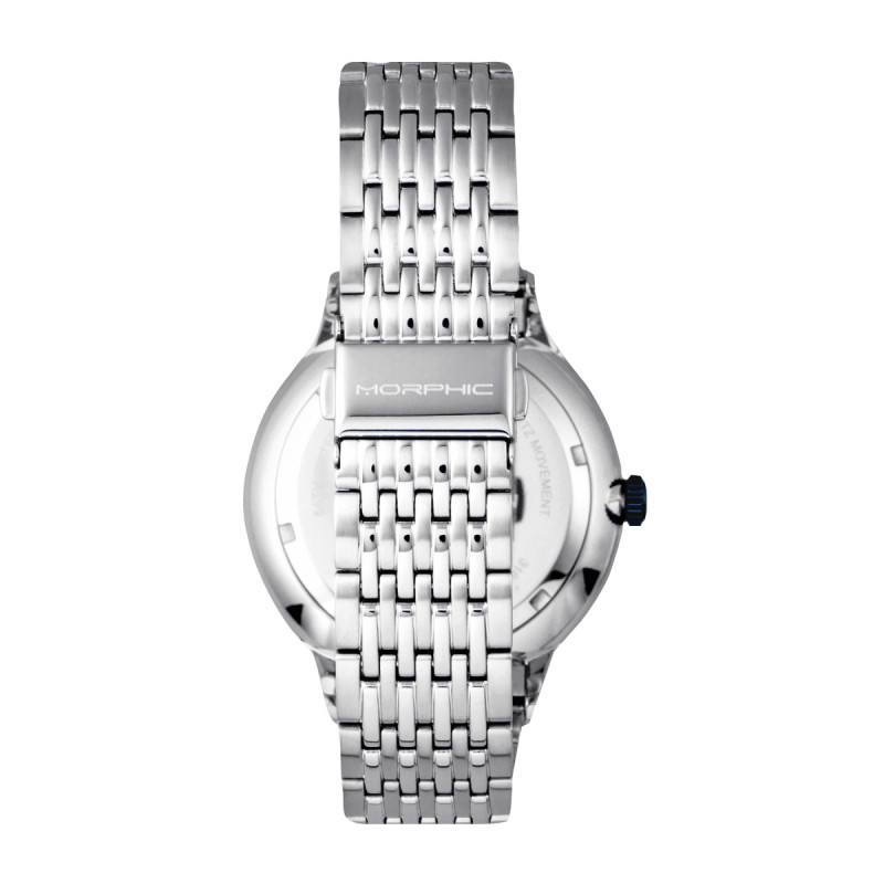 Morphic M65 Series Bracelet Watch w/Day/Date - Silver/Grey MPH6501