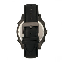 Morphic M68 Series Leather-Band Watch w/ Date - Black MPH6805