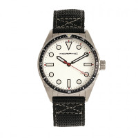 Morphic M69 Series Canvas-Band Watch - Silver MPH6901