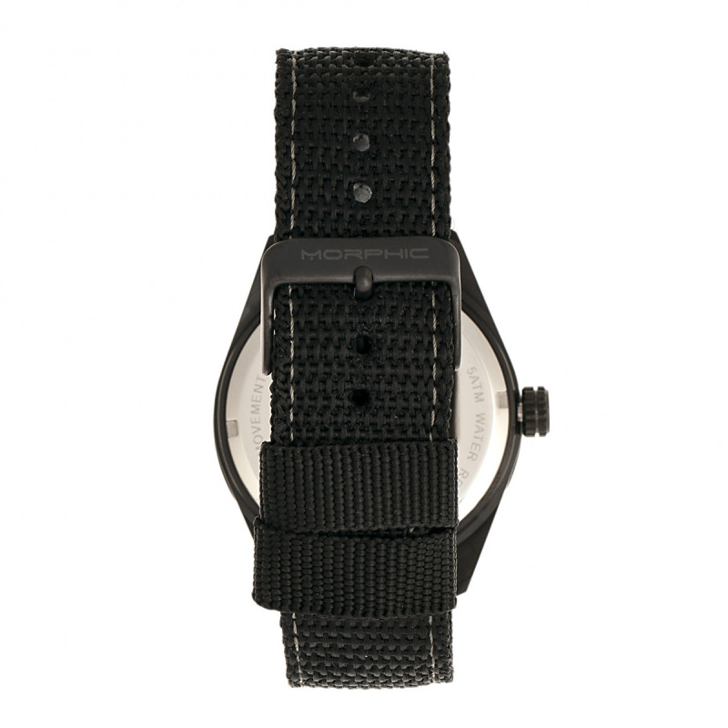 Morphic M69 Series Canvas-Band Watch - Black MPH6905