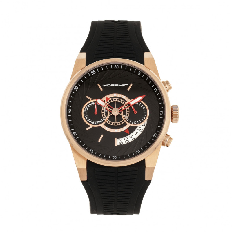 Morphic M72 Series Strap Watch - Black/Rose Gold MPH7204