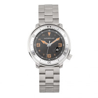 Morphic M74 Series Bracelet Watch w/Magnified Date Display - Gunmetal/Black & Silver/Black MPH7405