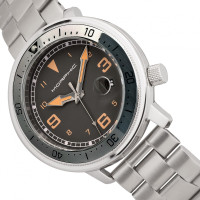 Morphic M74 Series Bracelet Watch w/Magnified Date Display - Gunmetal/Grey/Brown MPH7403
