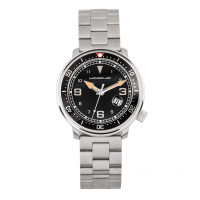 Morphic M74 Series Bracelet Watch w/Magnified Date Display - Gunmetal/Silver/Black MPH7401