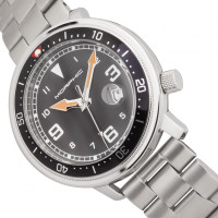 Morphic M74 Series Bracelet Watch w/Magnified Date Display - Gunmetal/Black & Silver/Brown MPH7407