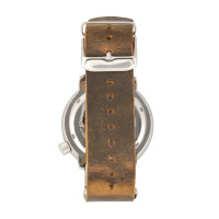 Morphic M74 Series Leather-Band Watch w/Magnified Date Display - Brown/Black & Silver/Black MPH7410