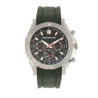 Morphic M75 Series Tachymeter Strap Watch w/Day/Date - Silver/Green MPH7502
