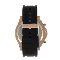 Morphic M75 Series Tachymeter Strap Watch w/Day/Date - Rose Gold/Black MPH7505