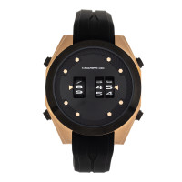 Morphic M76 Series Drum-Roll Strap Watch - Black/Gold MPH7604