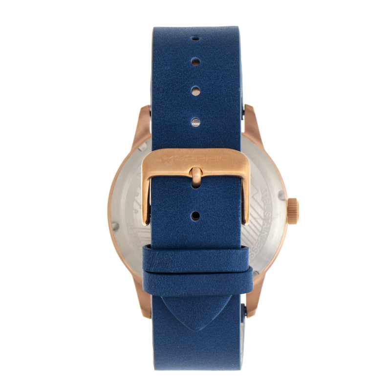 Morphic M77 Series Leather-Band Watch - Blue MPH7705