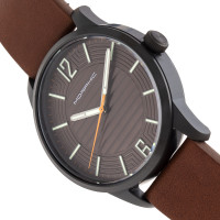 Morphic M77 Series Leather-Band Watch - Brown MPH7706