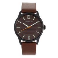 Morphic M77 Series Leather-Band Watch - Green MPH7704