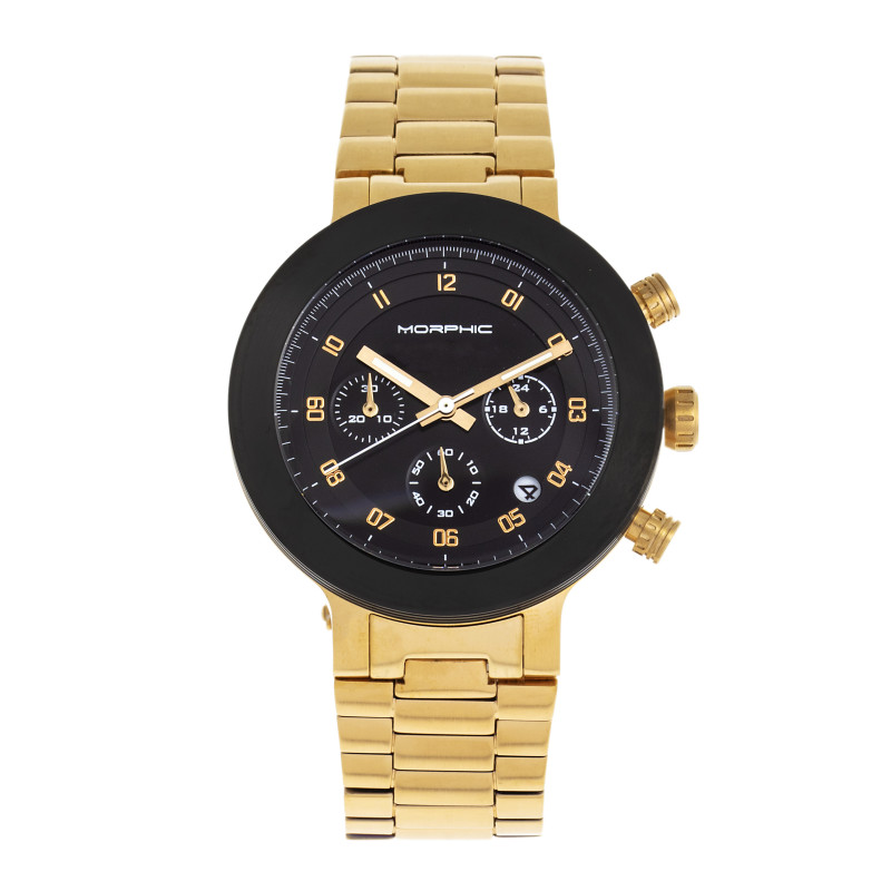 Morphic M78 Series Chronograph Bracelet Watch - Gold/Black MPH7805