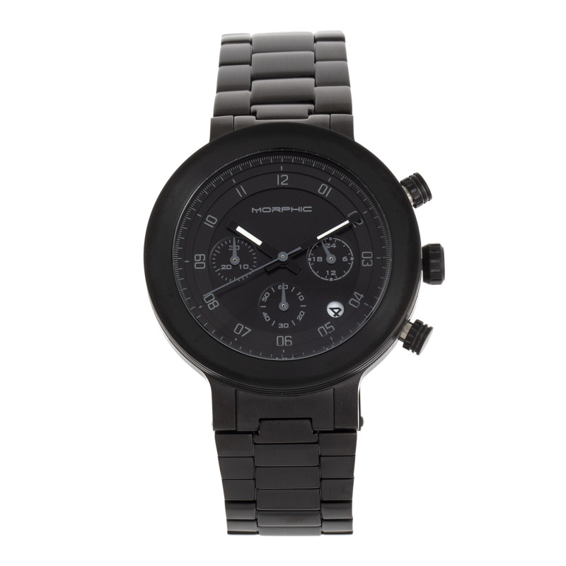 Morphic M78 Series Chronograph Bracelet Watch - Black/Black MPH7807