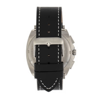 Morphic M79 Series Chronograph Leather-Band Watch - Silver/White MPH7904