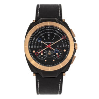 Morphic M79 Series Chronograph Leather-Band Watch - Black MPH7906