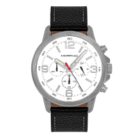 Morphic M86 Series Chronograph Leather-Band Watch - Black MPH8605